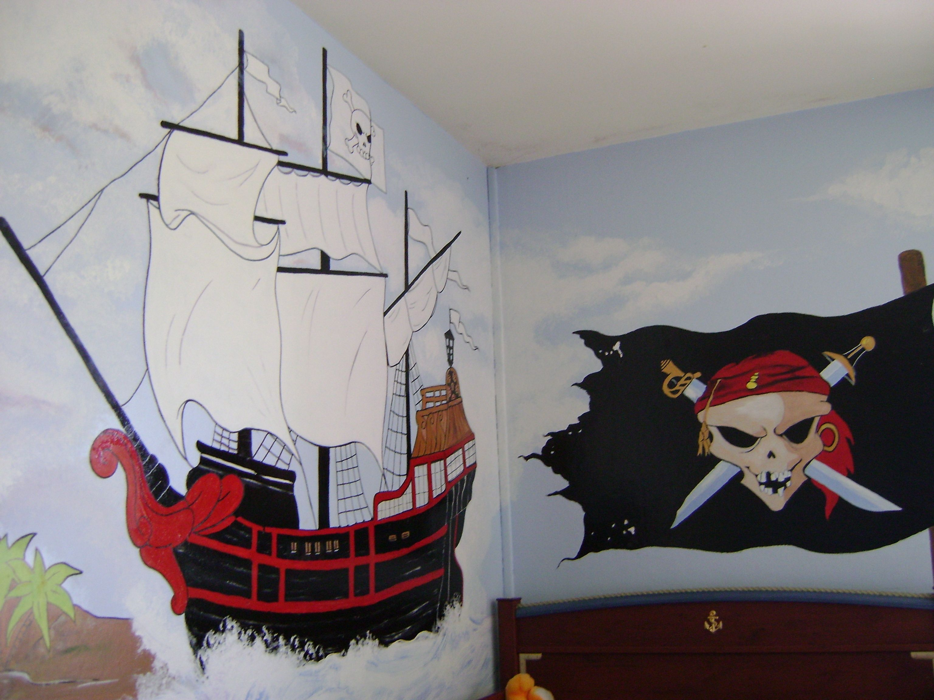 Peinture sur mur for Peinture interieur bateau